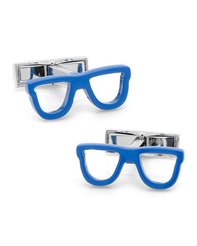 Cool Cut Shades Cuff Links, Blue