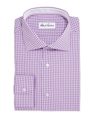 Jaylon Check Jacquard Dress Shirt, Lavender