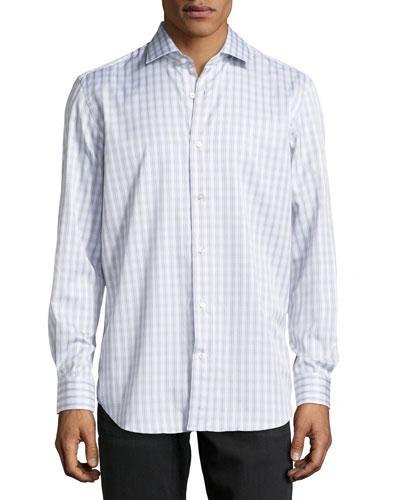 York Tartan Plaid Dress Shirt, Tan