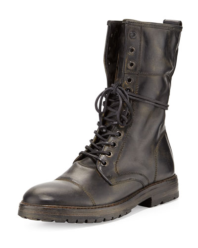 Stanley Tall Lace-Up Boot, Black
