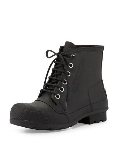 Original Rubber Lace-Up Boot, Black
