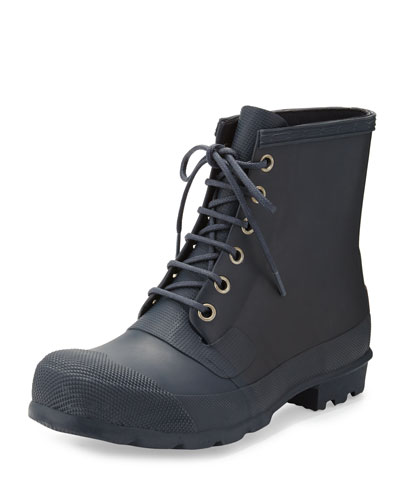 Original Rubber Lace-Up Boot, Navy