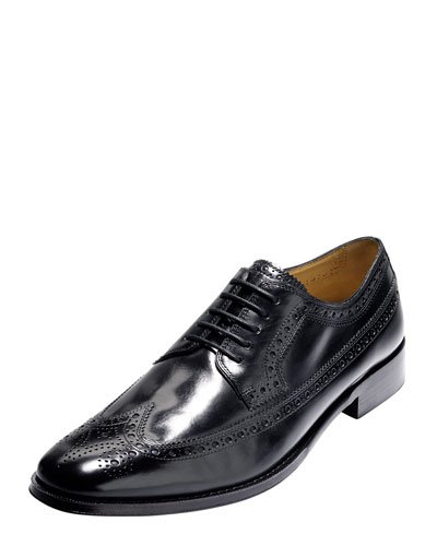 Lionel Long Wing-Tip Oxford, Black