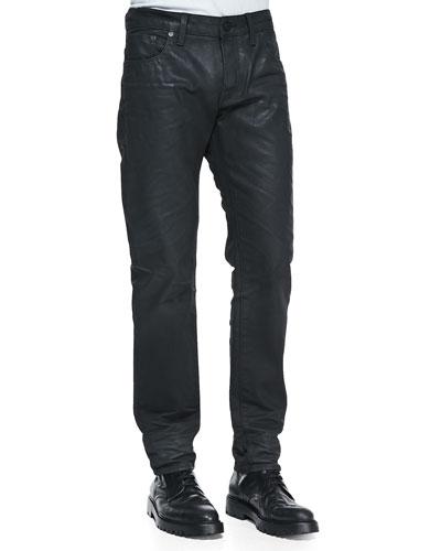 Classic Straight 3 Denim Jeans, Lt Faded Blue