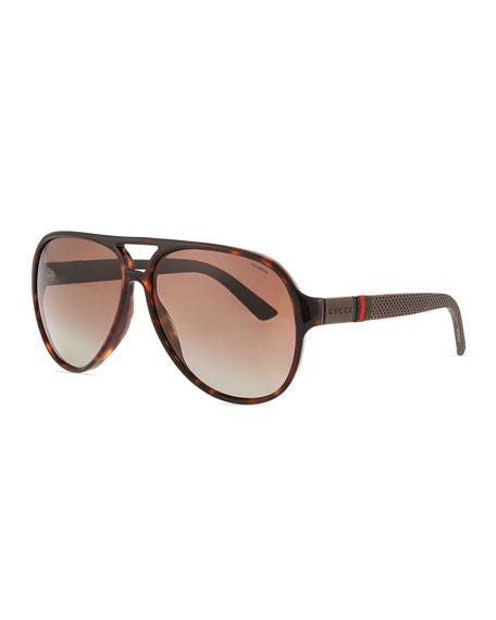Gucci Acetat Sonnenbrille aus Havana Acetat fXIDck