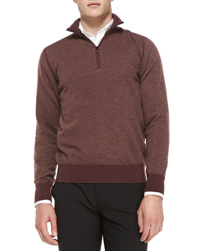 Cashmere Roadster Half-Zip Sweater
