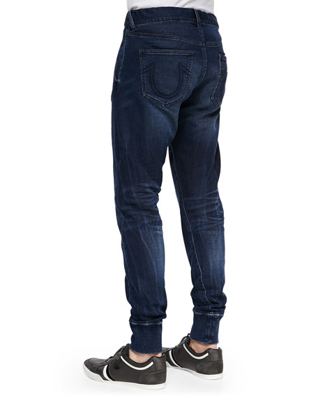 True Religion Runner Relaxed Tapered Denim Pants, Navy d6a94a062b