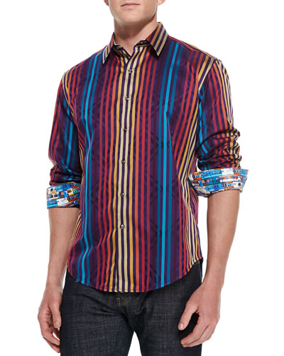 Palladium Striped Jacquard Sport Shirt