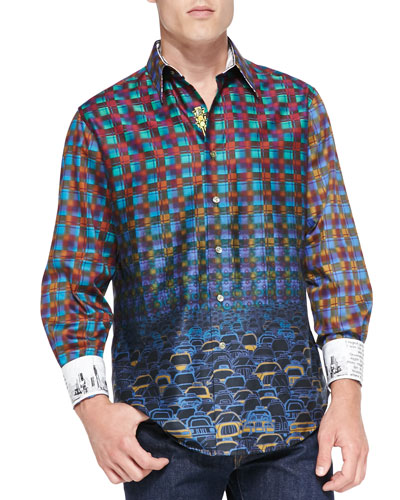 Forget-Me-Not Printed Sport Shirt