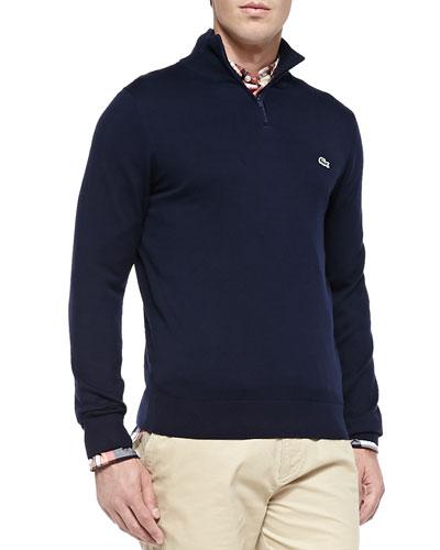 Half-Zip Knit Sweater, Navy