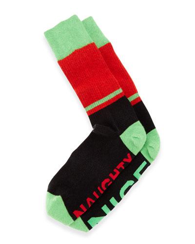 Naughty Nice Men's Socks, Black