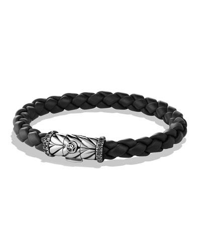 Chevron Bracelet in Black with Black Diamonds