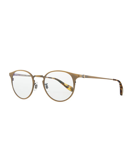 a934635e6 Oliver Peoples Wildman Men's Round Fashion Glasses, Aged Gold