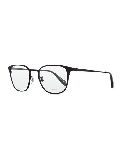Pressman Square Titanium Fashion Glasses, Matte Black