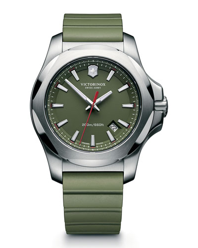I.N.O.X. Rugged Watch with Protective Cover, Green