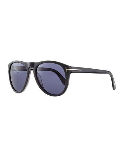 Kurt Acetate Aviator Sunglasses, Gray