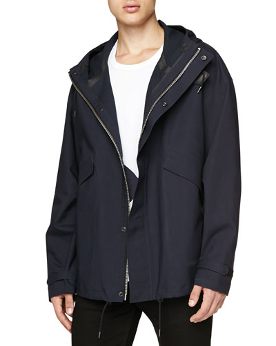 Bonded Cotton Hooded Jacket