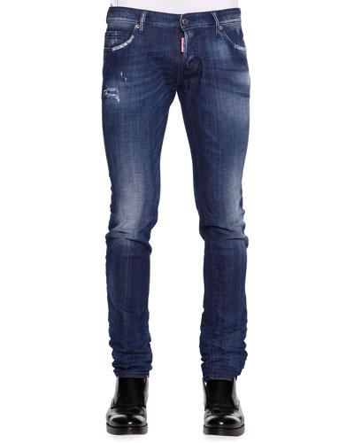 Skinny-Fit Distressed Jeans