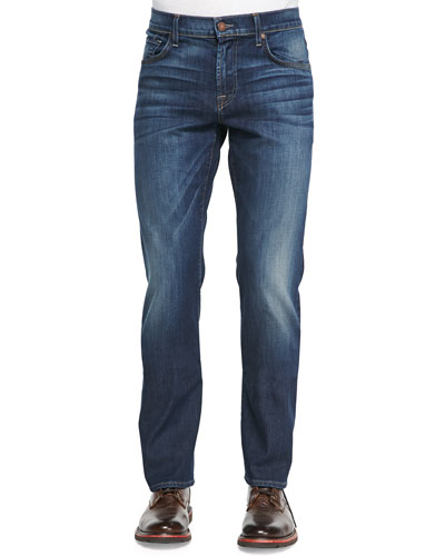Luxe Performance: Brett A-Pocket Washed Obsidian Jeans