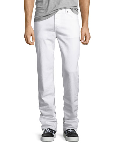 Standard Clean White Jeans, White