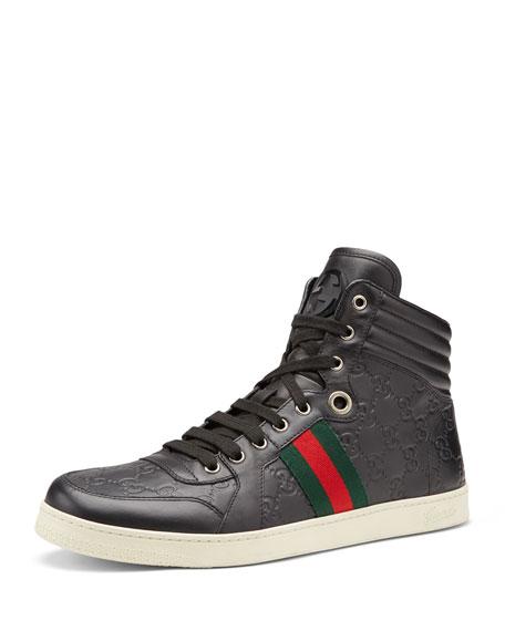 fbe58cb0425 Gucci Coda Guccissima High-Top Sneaker