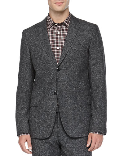 Donegal Two-Button Jacket, Gray