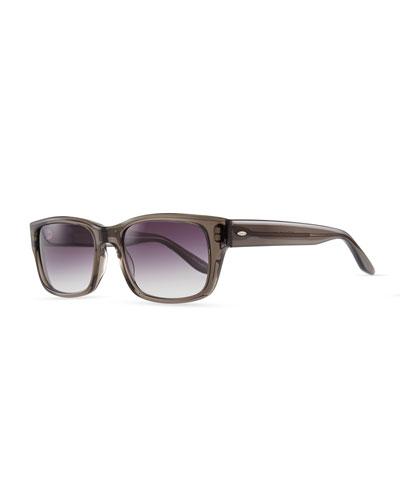 Caine Rectangular Sunglasses, Gray