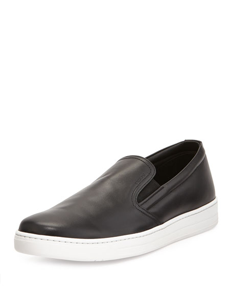 435752eea5 Leather Slip-On Sneaker Black