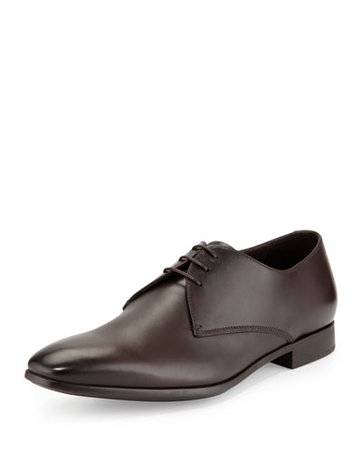 Leather Lace-Up Dress Shoes, Brown