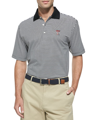 Texas Tech Gameday College Shirt Polo, Black/White