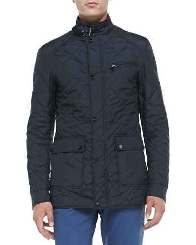 Quilted Tech Jacket, Navy