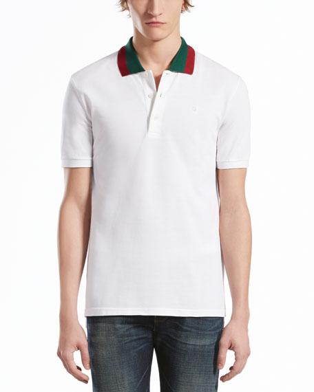 6c9b40e62 Gucci Pique Polo with Green/Red Collar