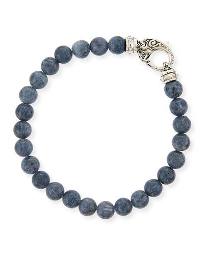 Gray Coral Beaded Bracelet