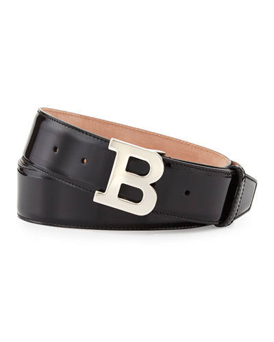 Patent B-Buckle Belt, Black