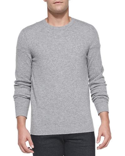 Cashmere Dermont Sweater, Light Gray
