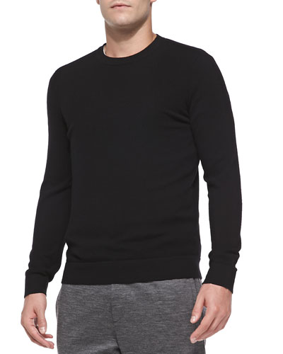 Cashmere Dermont Crewneck Sweater, Black