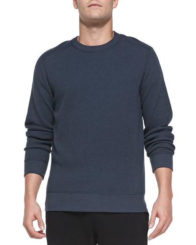 Danen Waffle-Knit Shirt, Gray