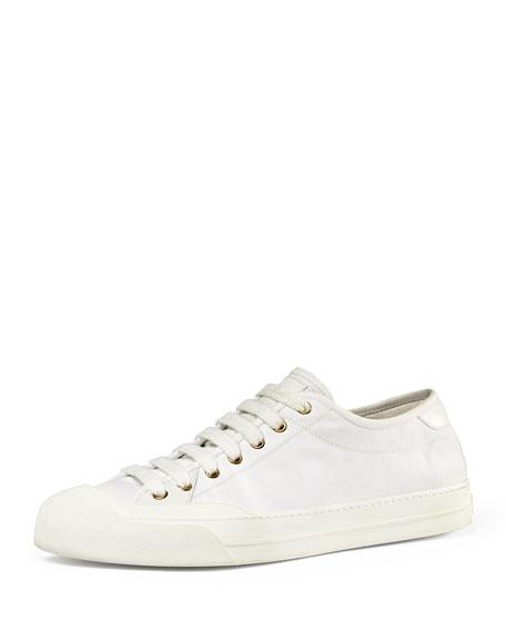 1dd86e387f38e6 Gucci Canvas Low-Top Sneaker