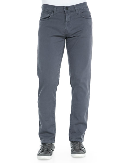 Tyler Stretch-Denim Jeans, Charcoal