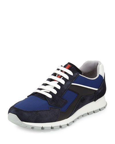 Low-Top Trainer Sneaker, Blue