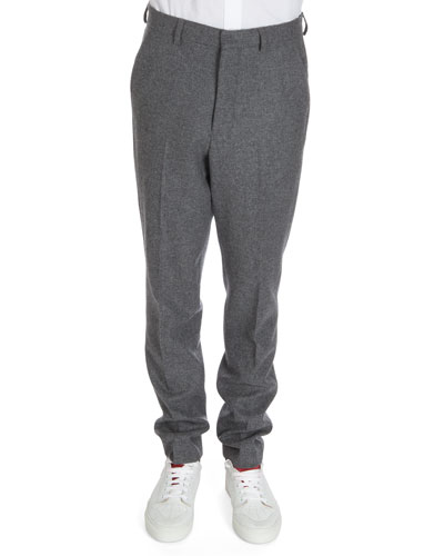 Wool Trousers, Gray