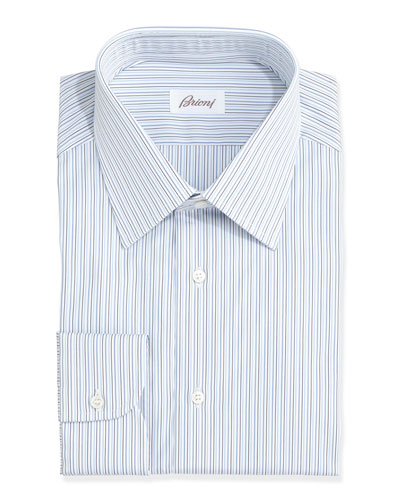 Multi-Stripe Dress Shirt, Blue