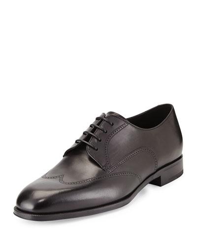 Lace-Up Derby Shoe, Black