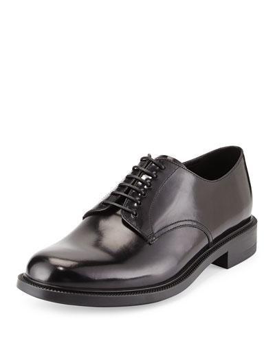 Leather Derby Shoe, Black