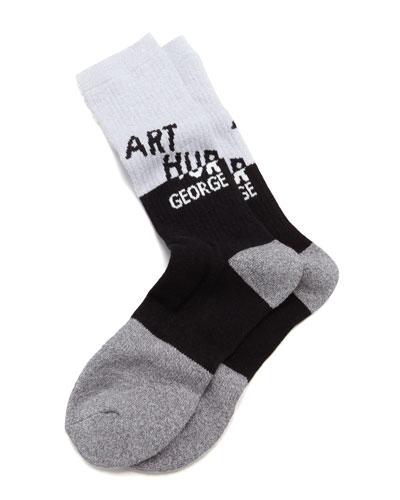 AG Swag Men's Socks, Black/Gray