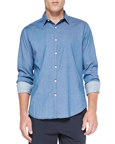 Zack PS Ryerson Chambray Shirt, Blue