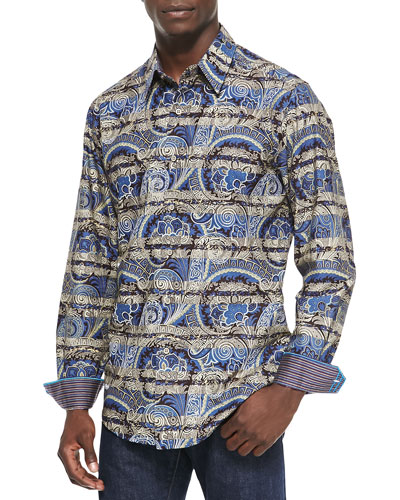 Twilo Paisley & Stripe Sport Shirt