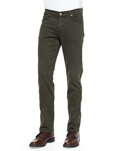 Luxe Performance: Slimmy Twig Green Jeans