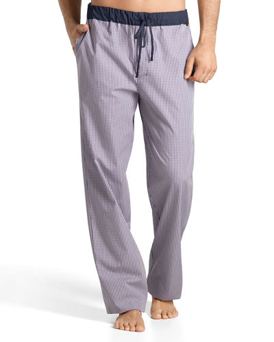 Night & Day Check Lounge Pants, Pink/Blue