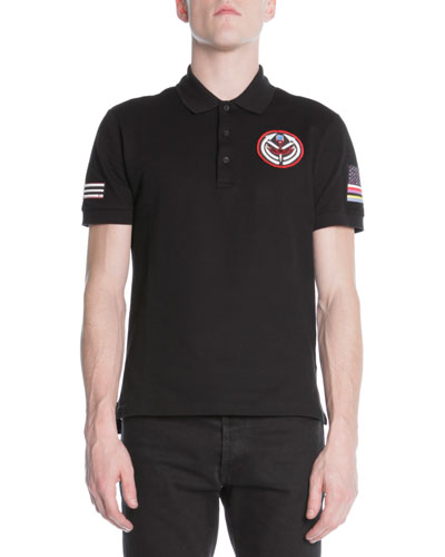 Flag Patch-Detail Polo Shirt